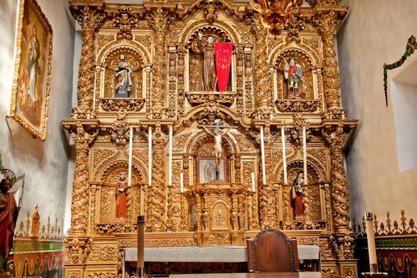 Spanyol díszes oltár kápolna küldetés San Juan Stock fotó © billperry