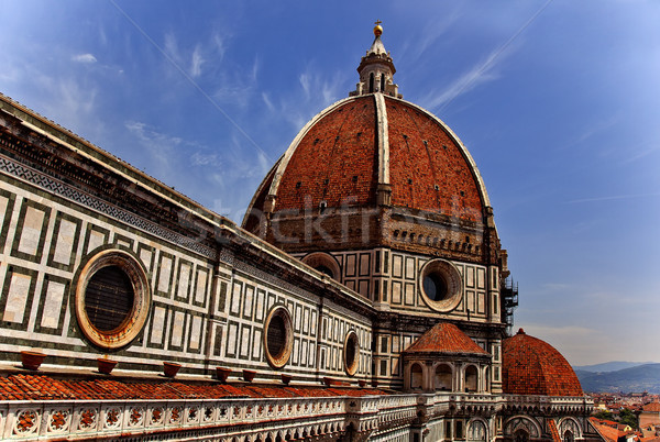 Duomo Cathedral Basilica From Giotto's Bell Tower Florence Italy Stock photo © billperry