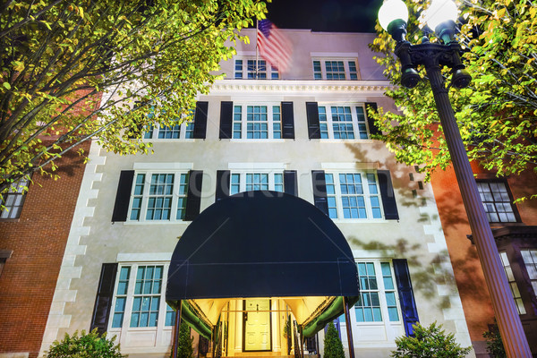 Maison bâtiment deuxième maison blanche nuit Washington DC Photo stock © billperry