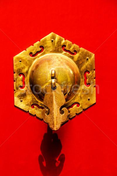Rood deur messing meer Beijing Stockfoto © billperry