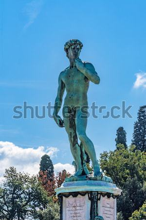 Monument to Michelangelo Florence Italy Stock photo © billperry