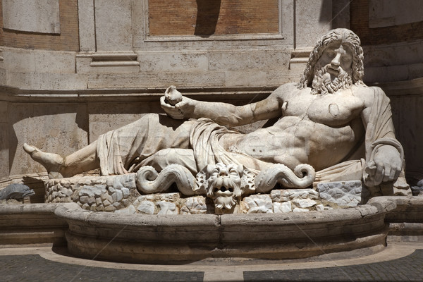 Ancient Neptune Statue Roman God Capitoline Museum Rome Italy Stock photo © billperry
