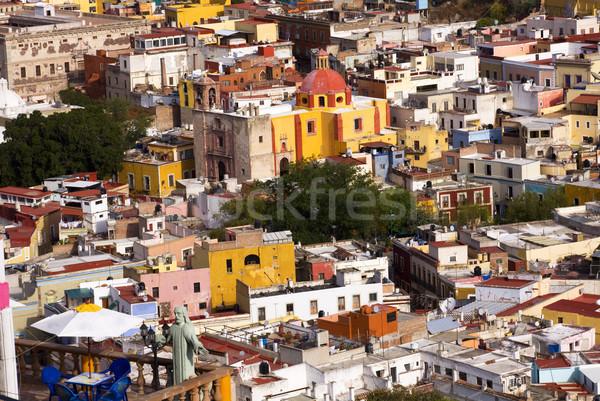 балкона домах Церкви Мексика Сток-фото © billperry