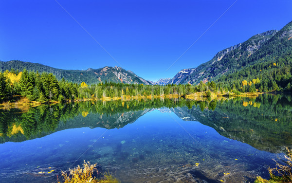 Or lac réflexion pic Washington Photo stock © billperry
