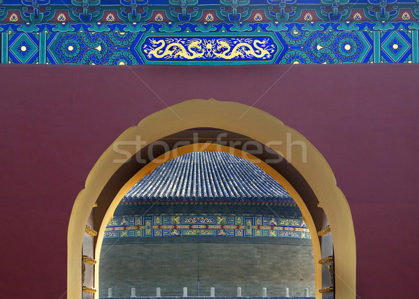 Poort details tempel hemel Beijing China Stockfoto © billperry