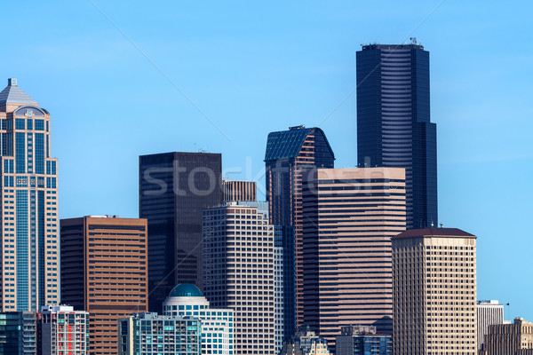 Seattle cityscape bâtiments Washington Skyline Photo stock © billperry