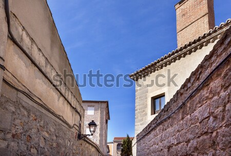 Keskeny város utcák kastély falak városkép Stock fotó © billperry