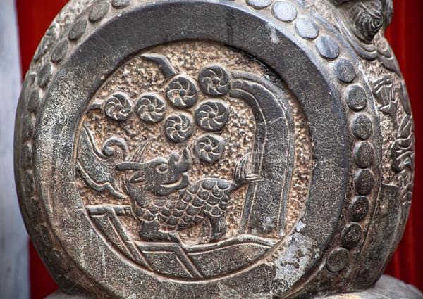 China Dragon Door Stone Houhai Beijing China Stock photo © billperry