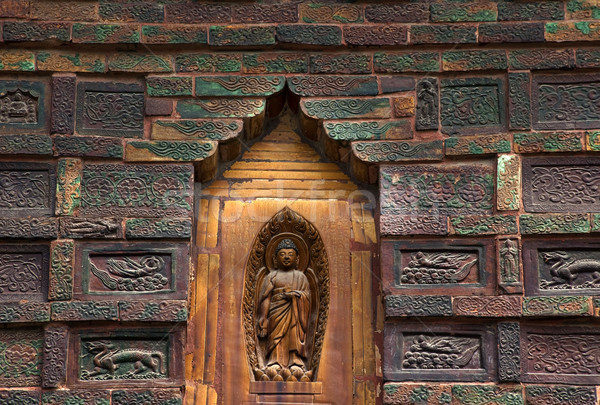 Ancient Buddha Brick Details Iron Buddhist Pagoda Kaifeng China Stock photo © billperry