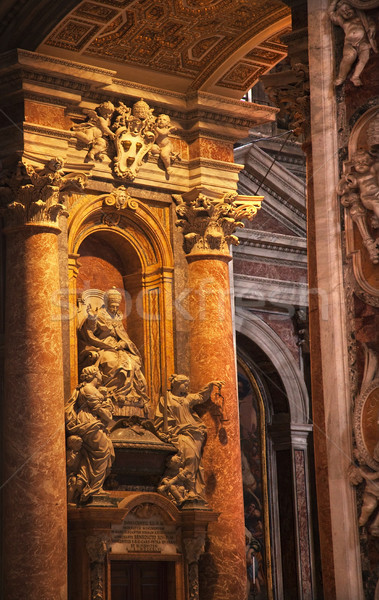 Watykan wewnątrz papież posąg Rzym Włochy Zdjęcia stock © billperry