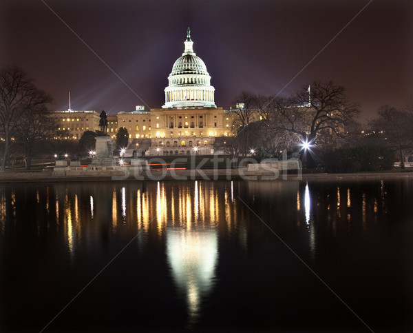 US Capitol Night Reflection Washington DC Stock photo © billperry