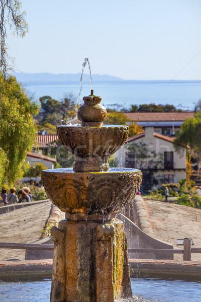 Fountain Pacific Ocean Mission Santa Barbara California  Stock photo © billperry