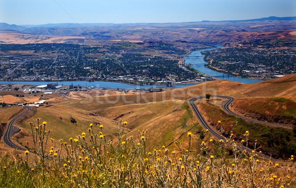 Colina serpente rio Idaho ver porta Foto stock © billperry