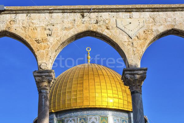 Kuppel rock Moschee Tempel ein Stock foto © billperry
