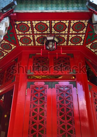 Red Lantern Prince Gong's Mansion Qian Hai Beijing China Stock photo © billperry