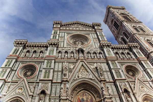 Duomo Cathedral Giotto Bell Tower Facade Florence Italy Stock photo © billperry