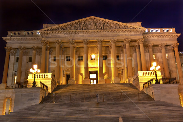 House of Representatives US Capitol North Side  Night Stars Wash Stock photo © billperry