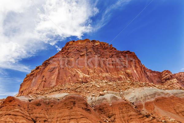 Zandsteen berg park schilderachtig drive water Stockfoto © billperry