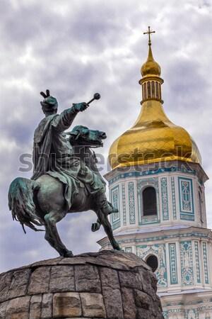 General Ignacio Allende Statue Plaza Civica San Miguel de Allend Stock photo © billperry
