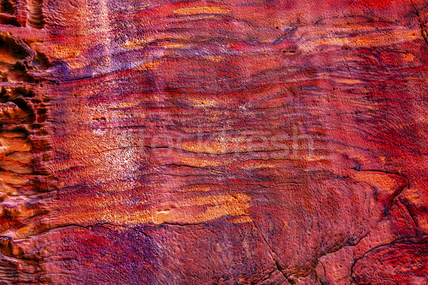 Rose Red Rock Tomb Abstract Street of Facades Petra Jordan  Stock photo © billperry