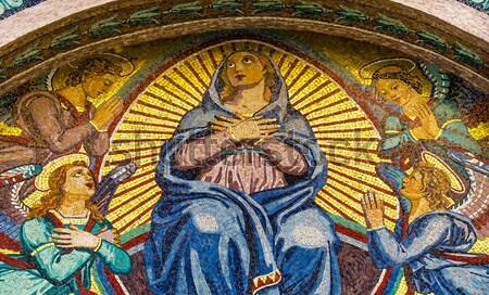 女性 クロス ステンドグラス ウィンドウ 教会 信仰 ストックフォト © billperry