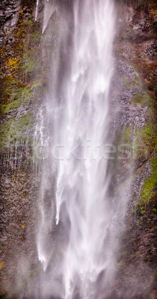 Long White Water Ribbon Multnomah Falls Waterfall Abstract Colum Stock photo © billperry