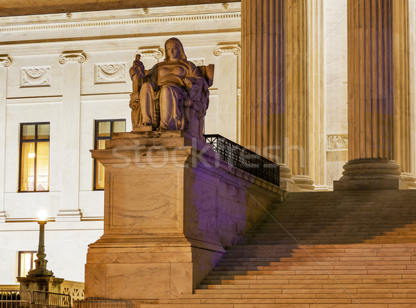 US Supreme Court Statue Capitol Hill Washington DC Stock photo © billperry