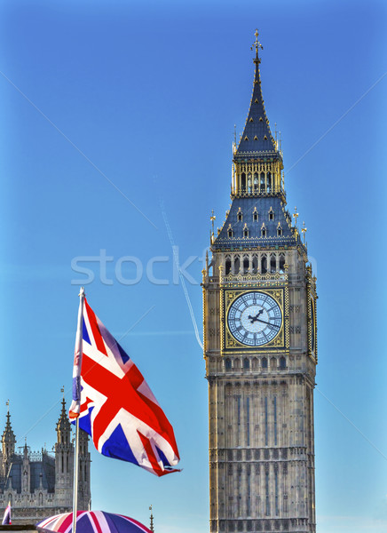 Big Ben toren huizen parlement westminster Stockfoto © billperry