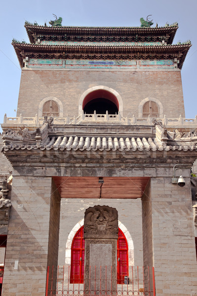 Stone Bell Tower Imperial Stele Beijing China Stock photo © billperry