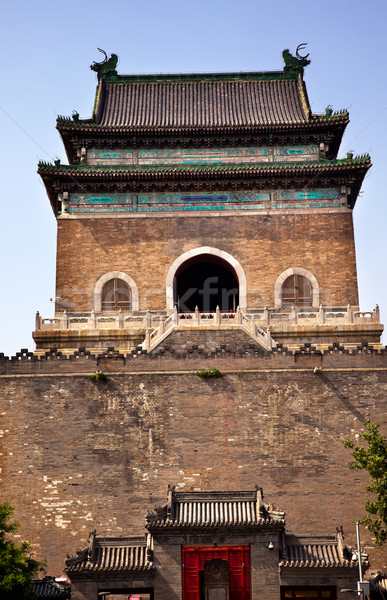 Stone Bell Tower Beijing China Stock photo © billperry