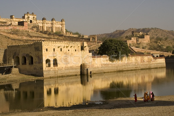 Ambra fort indian donne stagno riflessione Foto d'archivio © billperry