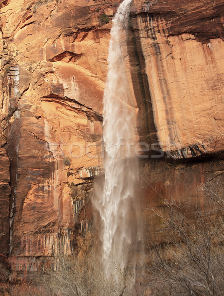 Weeping Rock Waterfall Red Rock Wall Zion Canyon National Park U Stock photo © billperry