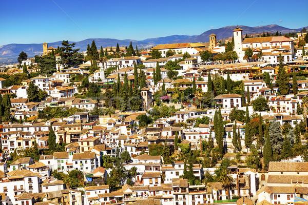 Alhambra White Buildings Cityscape Churches Albaicin Carrera Del Stock photo © billperry