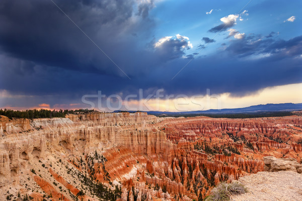Amphitheater Hoodoos Sunset Inspiration Point Bryce Canyon Natio Stock photo © billperry
