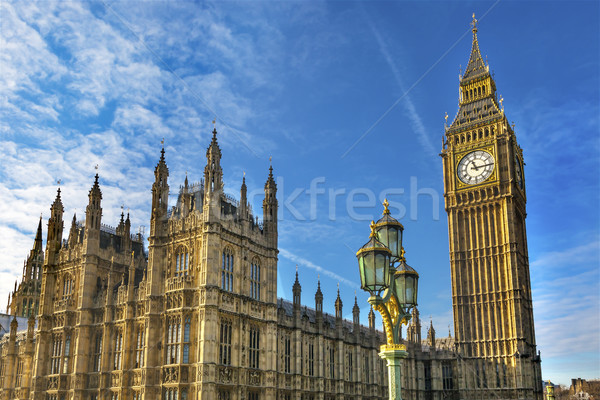 Big Ben Tower Westminster Bridge Houses of Parliament Westminste Stock photo © billperry