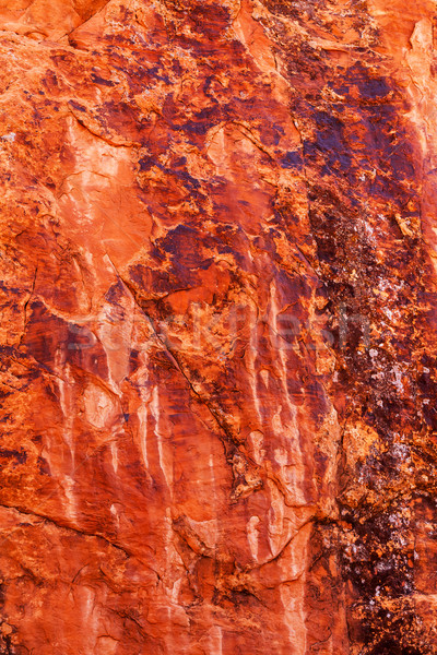 Brown Yellow Orange Rock Canyon Abstract Devils Garden Arches Na Stock photo © billperry