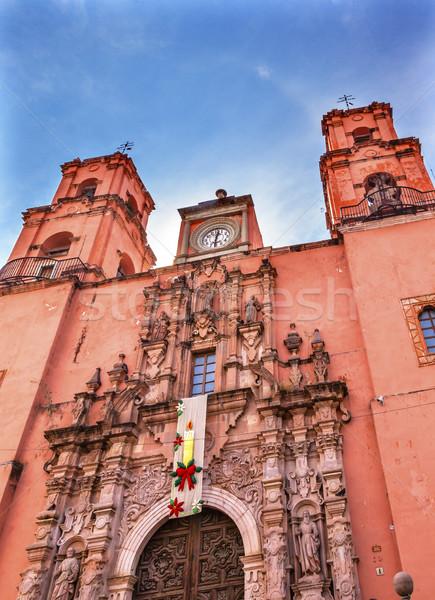 Photo stock: San · Francisco · rose · église · Mexique · bâtiment