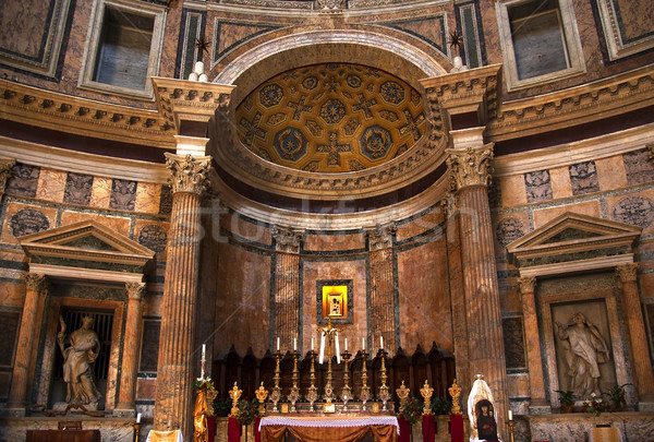 Altar Gold Icon Pantheon Rome Italy Stock photo © billperry