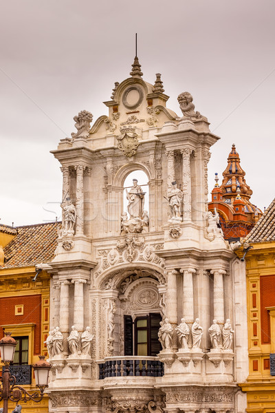Palace of San Telmo Andalusian President Office St James Statue  Stock photo © billperry