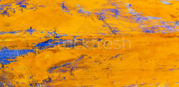 Bright Yellow Blue Abstract Wall Obidos Portugal Stock photo © billperry
