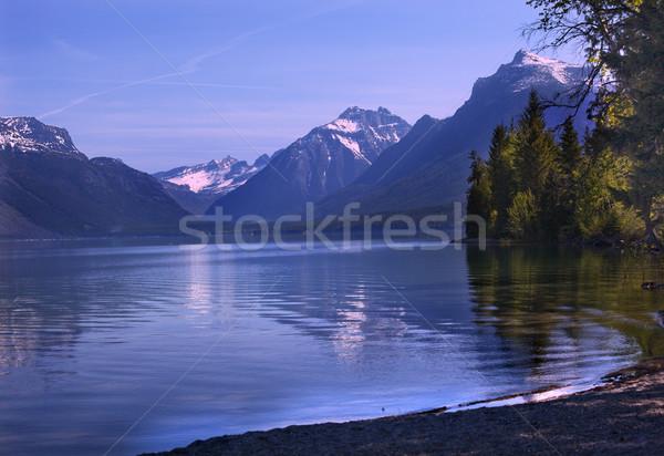 Lake McDonald Reflection Glacier National Park Montana Stock photo © billperry
