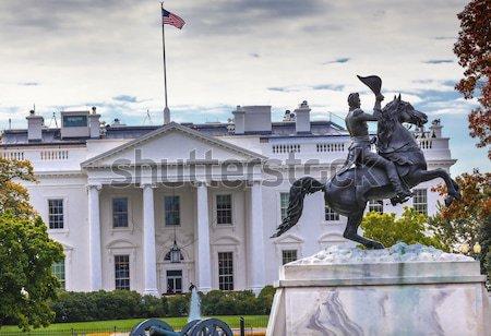 像 公園 白い家 秋 広場 ワシントンDC ストックフォト © billperry