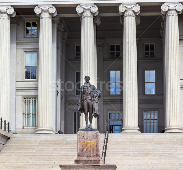 Stock photo: US Treasury Department Alexander Hamilton Statue Washington DC