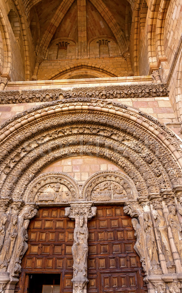 Avila Cathedral Door Castile Spain Stock photo © billperry