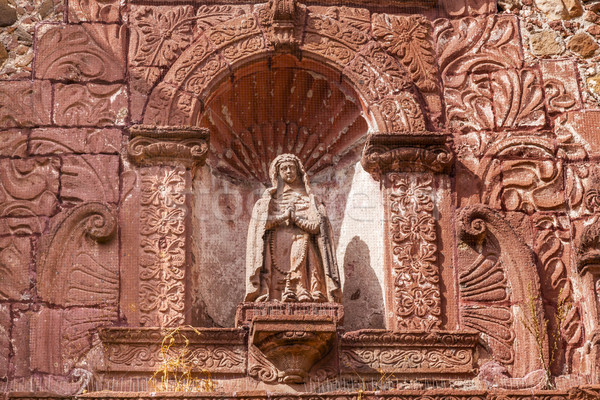 Madonna Mary Statue Oratorio San Felipe Neri Church FacadeSan Mi Stock photo © billperry