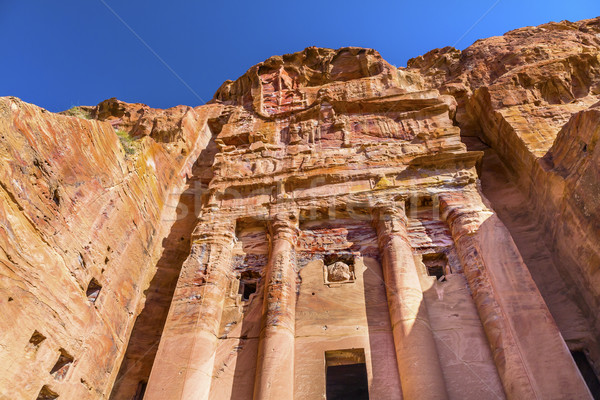 Royal Rock tombe arc Jordanie annonce Photo stock © billperry