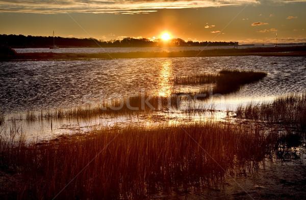 порт Массачусетс Восход небе воды природы Сток-фото © billperry