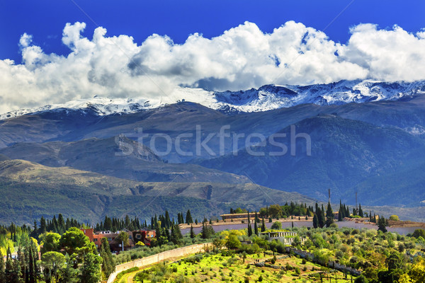 Alhambra Farm Mountains Granada Andalusia Spain Stock photo © billperry
