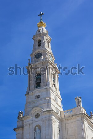 Bell Tower Angels Basilica of Lady of Rosary Fatima Portugal Stock photo © billperry