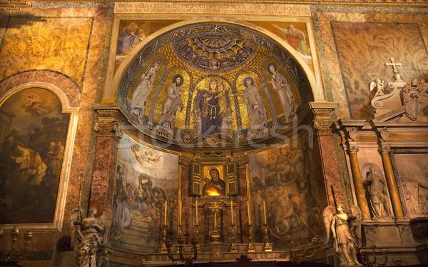 Obrazy mozaiki ołtarz szeroki Święty mikołaj bazylika Zdjęcia stock © billperry